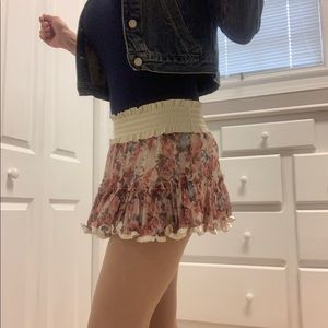 Flirty Floral Mini Skirt, Floral short Skirt